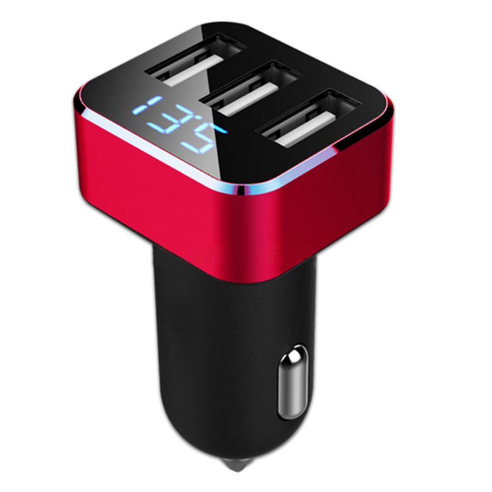 chenghesheng 3.1A Intelligent Triple USB Car Charger on Cigarette Lighter with LED Display for iPhone, Samsung Galaxy Note, HTC, Motorola, Nexus, LG, iPad, MP3/ MP4,Android Smart Phone and Tablets