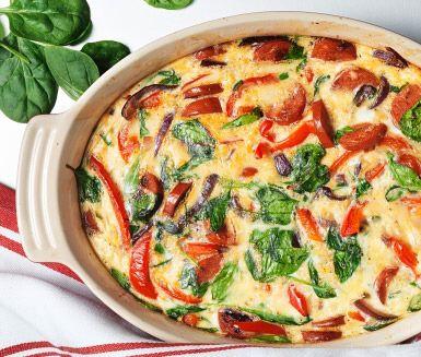 Omelett Med Chorizo Ost Paprika Och Bladspenat Recept I 2020 Mat Och Dryck Chorizo Foodies
