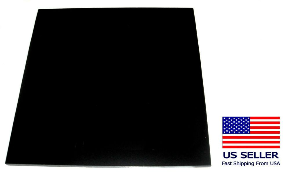 1pc Deep Black Phenolic Resin Sheet Micarta 1 2 Thick X 11 5 X 11 5 Brand New Unbranded Phenolic Resin Micarta Plastic Sheets
