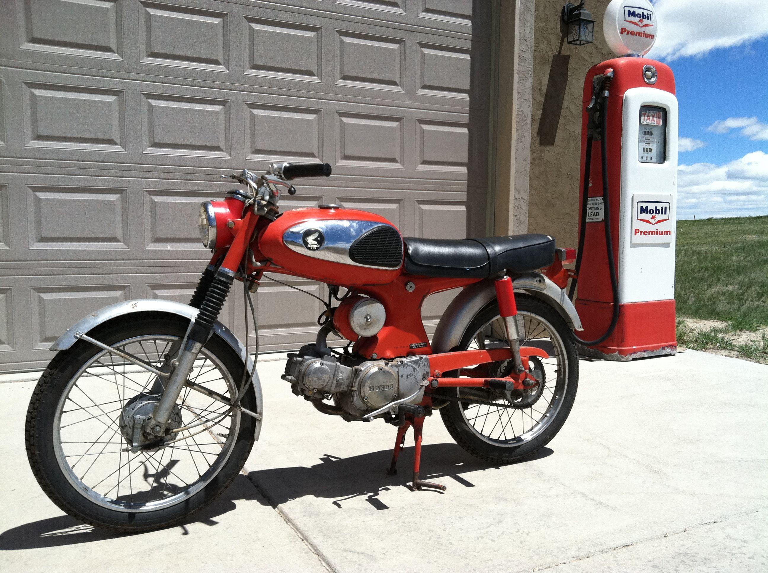 1965 honda s90 90cc ohc engine w 4spd tranny top speed 65 mph