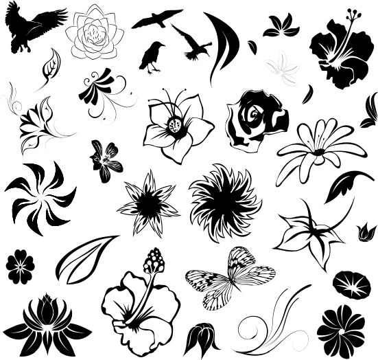 Simple Black Cosmetology Tattoo Designs Tattoo Designs 06 Tattoos Zimbio Hawaiian Flower Tattoos Small Flower Tattoos Small Tattoos Simple