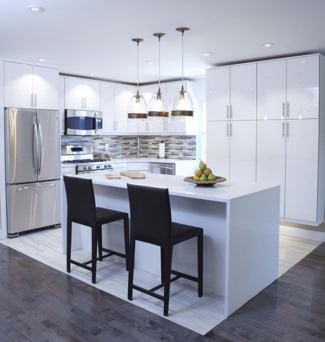 30 Most Beautiful White Kitchen Design Ideas 2016 Kitchen Furniture Design Kitchen Cabinet Interior White Modern Kitchen