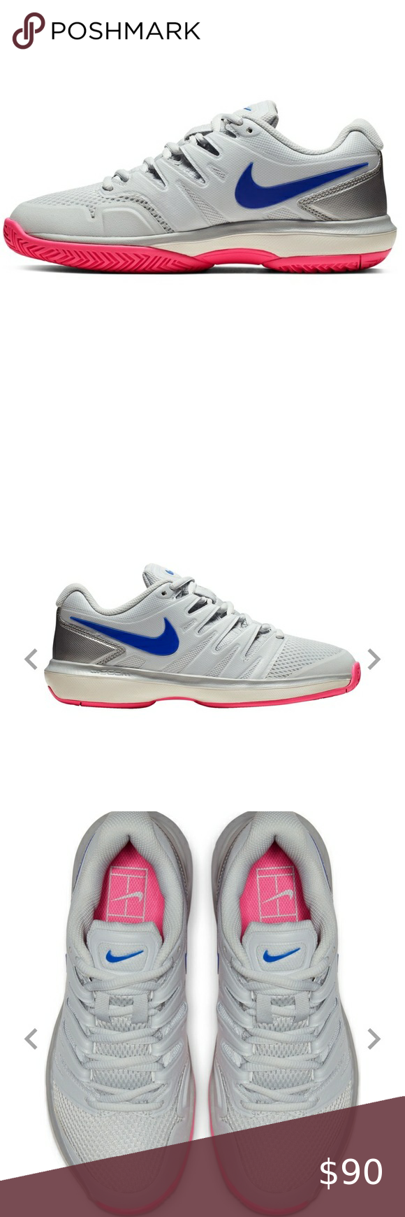 Nike Women S Air Zoom Prestige Tennis Shoes 8 5 Nike Women S Air Zoom Prestige Tennis Shoes Size 8 5 Brand New In 2020 Womens Shoes Sneakers Nike Women Tennis Shoes