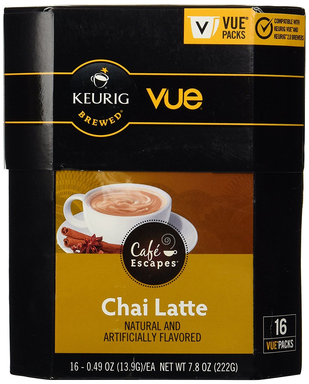 Café Escapes Vue Cups For Keurig Vue Brewers (Chai Latte