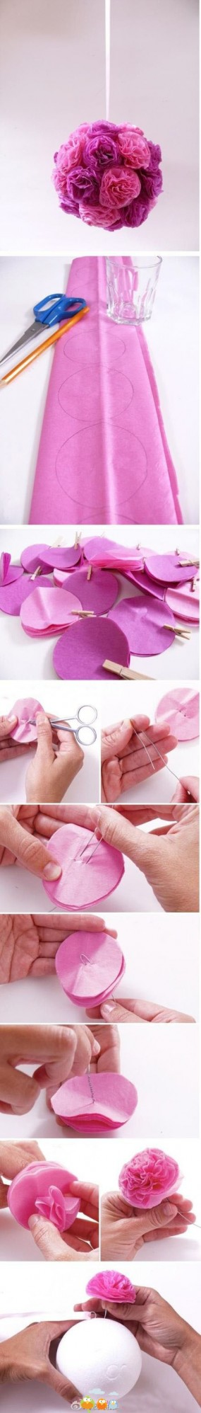 Tissue Paper Kissing Ball