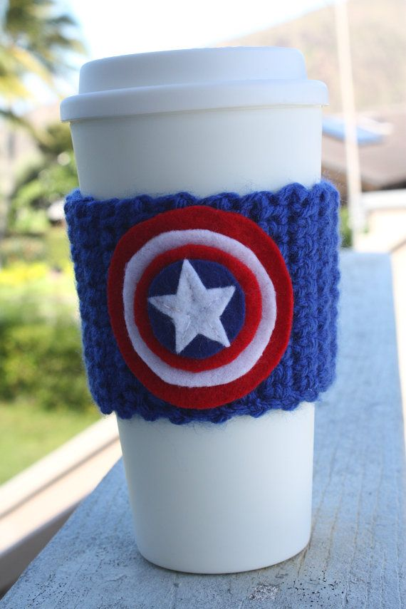 Captain America Inspired Coffee Travel Mug Cup Cozy from Marvel ...