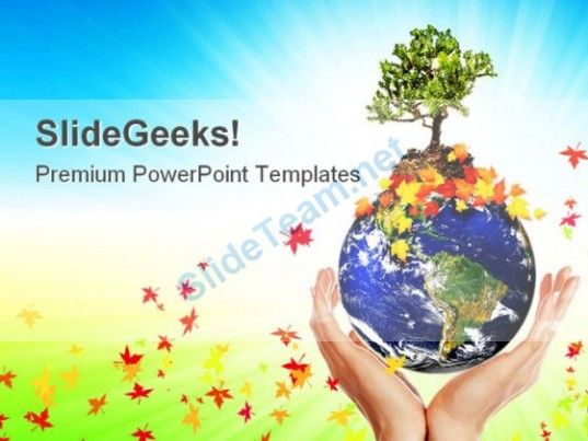 Earth With A Tree Globe Powerpoint Templates And Powerpoint