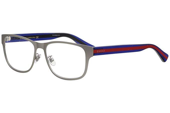 7414d40189e Gucci GG 0007O 003 Ruthenium Metal Rectangle Eyeglasses 55mm ...