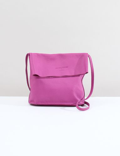 Creatures of Comfort X Baggu Fold Over Leather Purse- Orchid