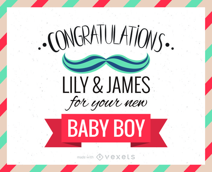Congratulations Card For New Baby Boy Creator Including Different Languages Elements And Ed Congratulations Greetings Congratulations Baby Greeting Card Maker