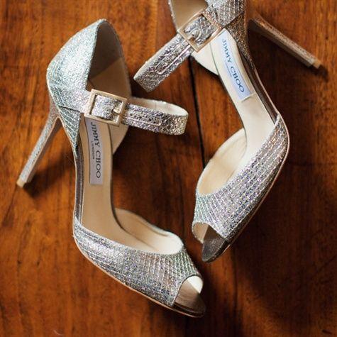 55f3b8b08d57 My all time favorite Bridal Shoes Silver Jimmy Choo Bridal Shoes ...