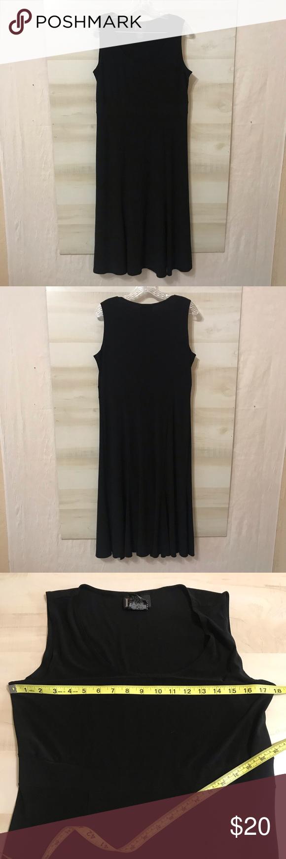 R K Essentials Black Sleeveless Dress Size 12 Black Sleeveless Dress Clothes Design Fashion Design [ 1740 x 580 Pixel ]