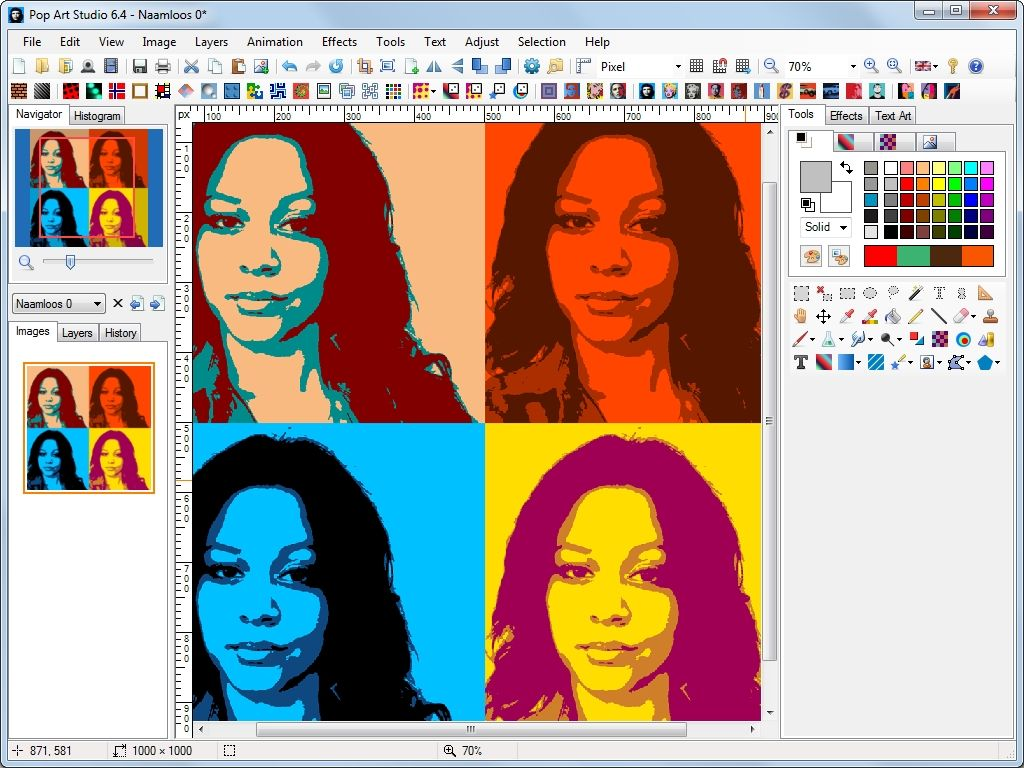 Free Warhol Photo Effect | Download Pop Art Studio Free