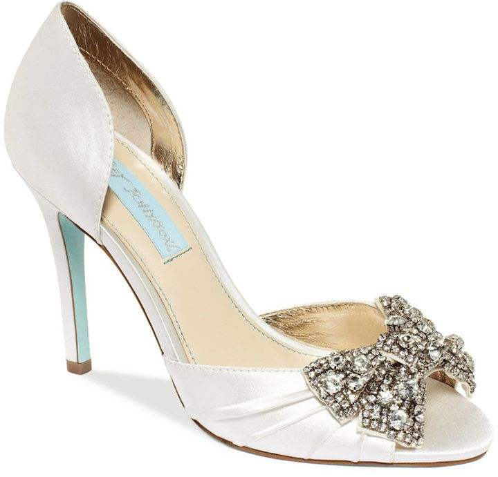 Blue by Betsey Johnson Gown Evening Pumps | Wedding Shoes ...