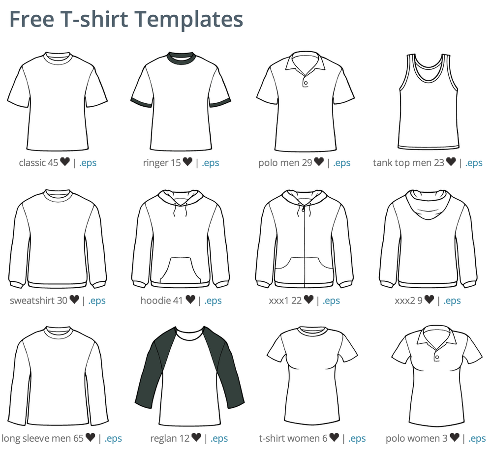 kostenlose tshirttemplates vektor  shirt template
