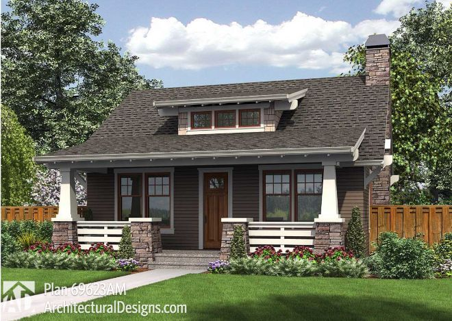 Arts Crafts Style States That A Craftsman Home Can Be Easily Recognized By A Combination Craftsman House Plans Bungalow Style House Plans Cottage House Plans
