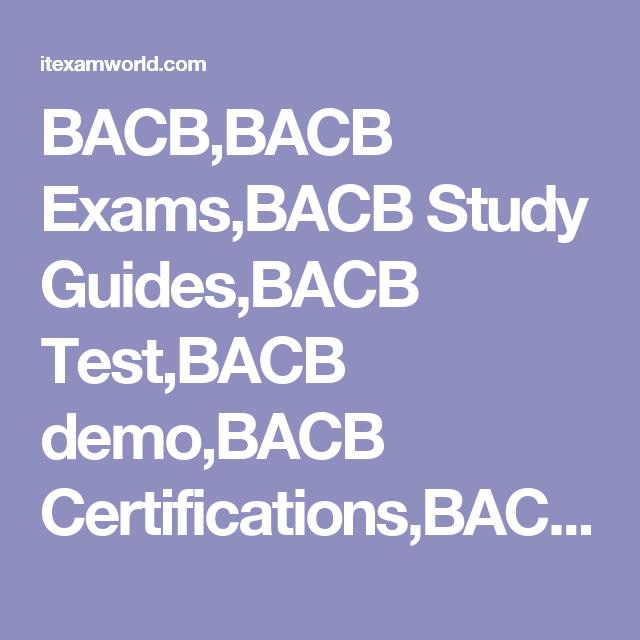 Bacbbacb Examsbacb Study Guidesbacb Testbacb Demobacb