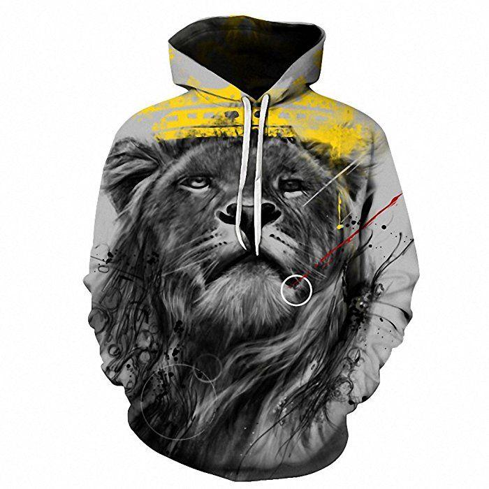 d4a7f4505091 Neue Ankommen 3D-hoodies Panda gedruckt Hoody Tops Men Hoodies Sweatshirt  das Pferd lion Hooded