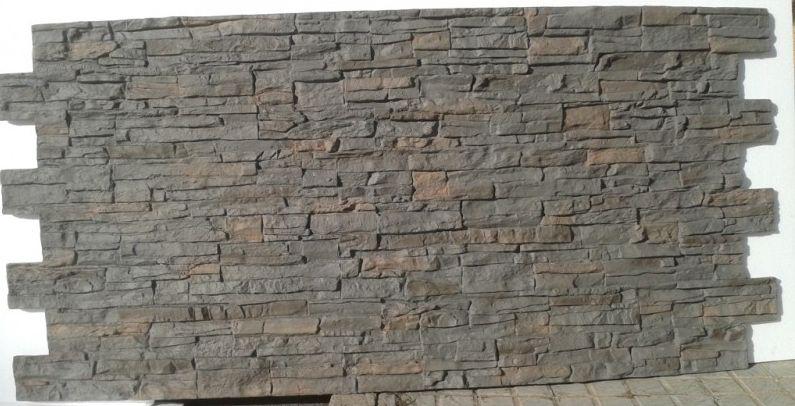 Panel pizarra gris plomo paneles decorativos paneldeco for Revestimiento imitacion piedra interior