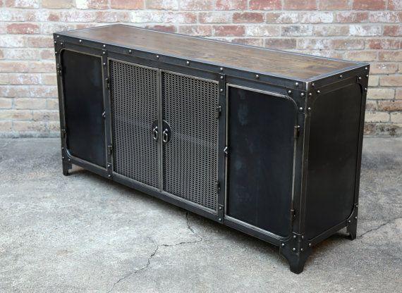 modern industrial sideboard steel