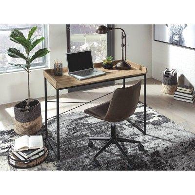 Gerdanet Home Office Desk Light Brown Signature Design By
