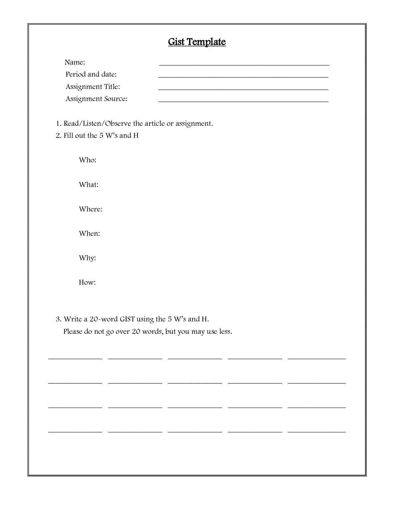 Paraphrasing Worksheets For Middle School Plagarism