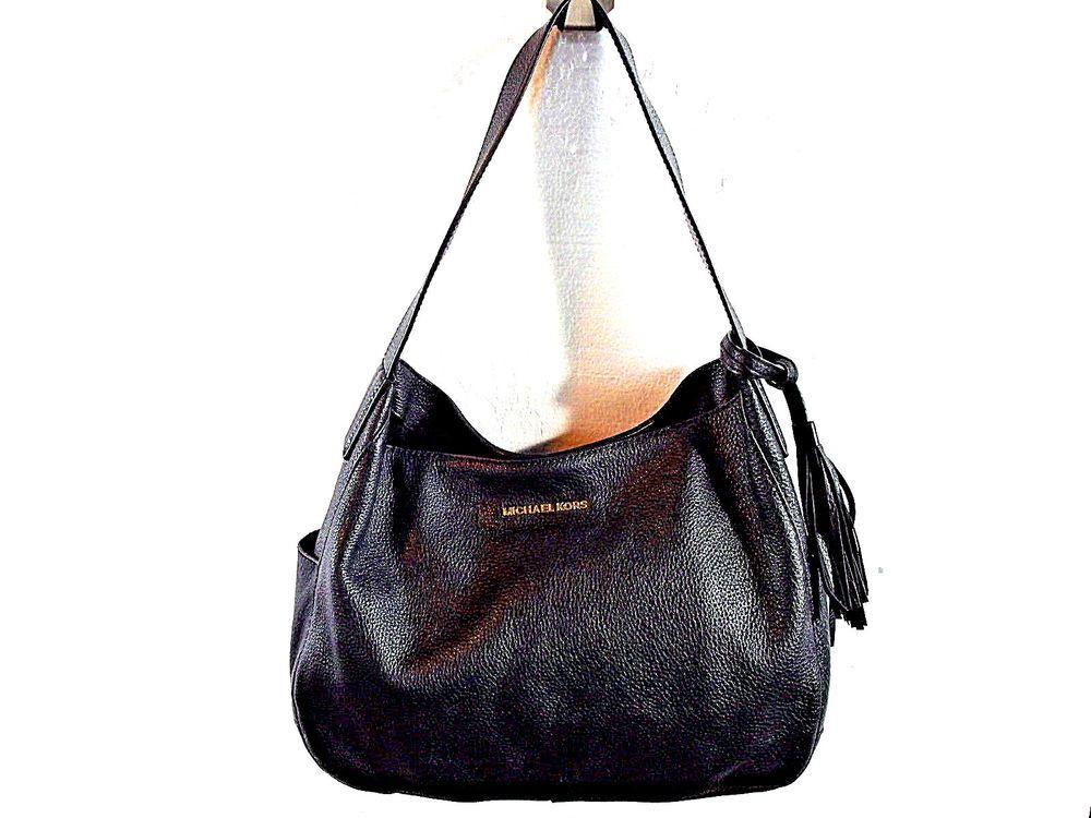 4ca42ce14129 MICHAEL KORS Ashbury Large Venus Hobo Tassels Black Leather Shoulder Bag   MichaelKors  ShoulderBag