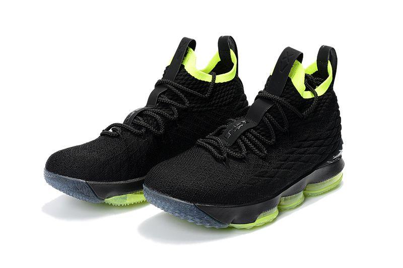 feadbb57fea9 Nike LeBron 15 XV Black Fluorescent Green