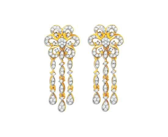 Beautiful Real Diamond Earring Designs From Kisna Sun Drop Collection 40063e