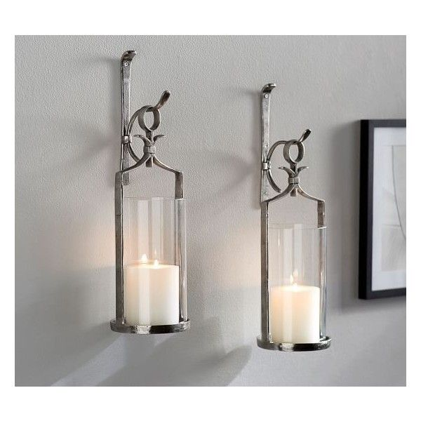 549ed8fb7d Artisanal Wall-Mount Candleholder Silver ($21) via Polyvore featuring home,  home decor, candles & candleholders, silver candles, wall vase, ...