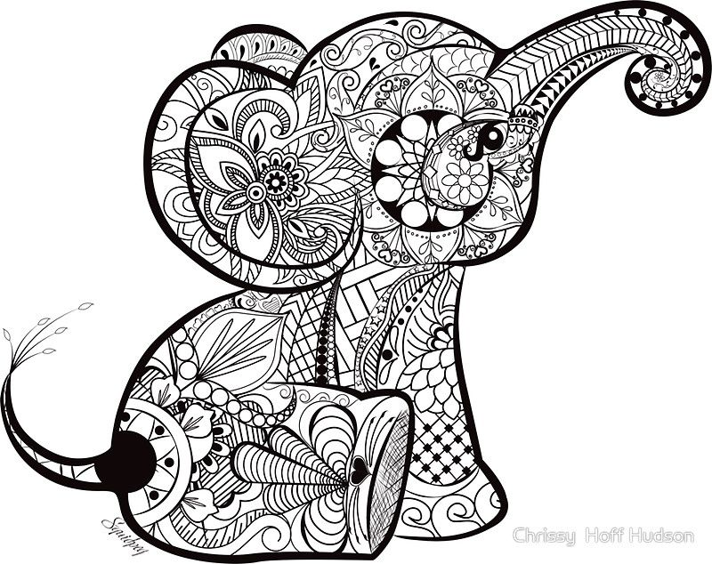 Pin By Teresa Gaultney On Coloring Elephant Elephant Coloring Page Mandala Elephant Tattoo Elephant Doodle
