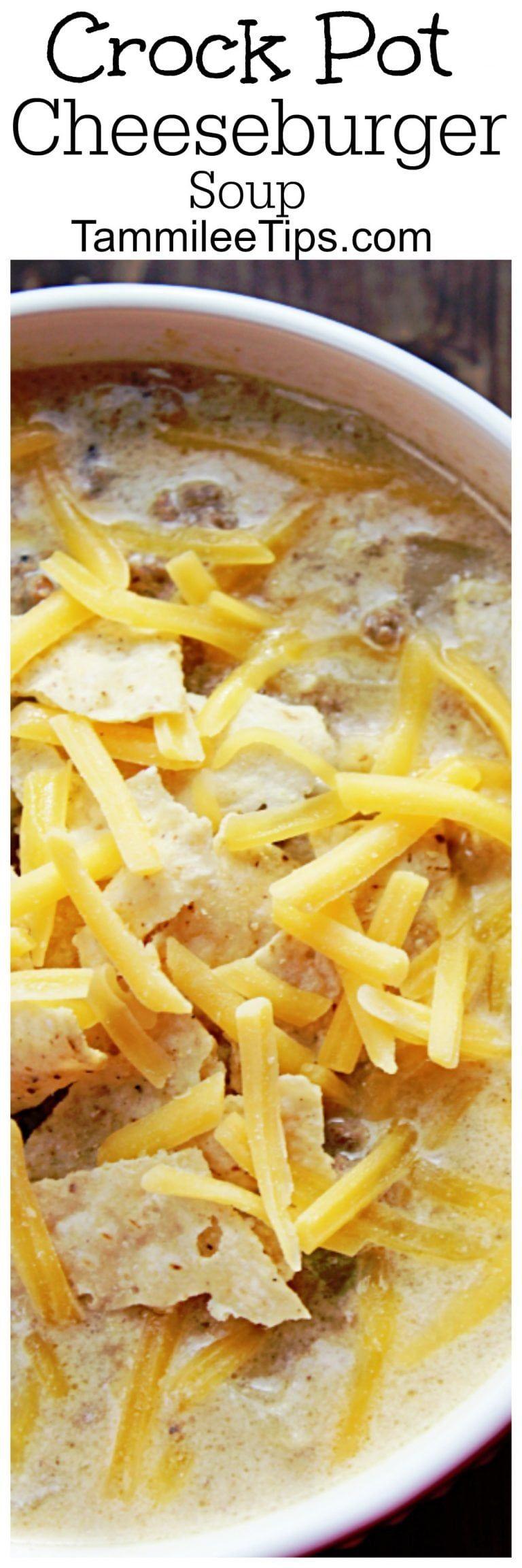 Crock Pot Cheeseburger Soup #crockpotgumbo
