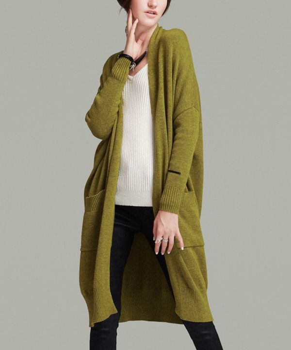 Look at this Yellow Open Cardigan on #zulily today! | Zulily ...