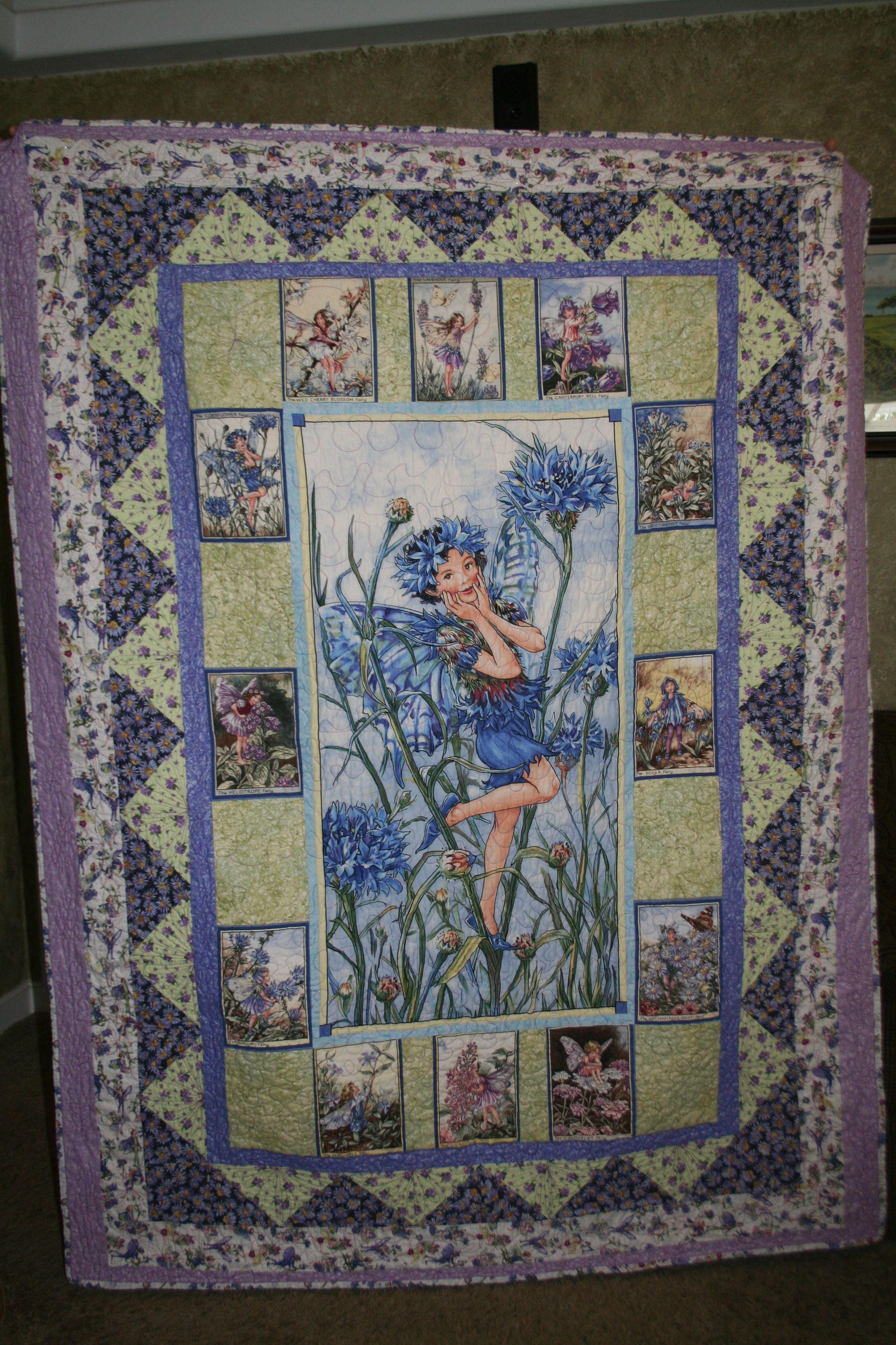 Fairy Quilt Fabric Panel Quilts Patchwork Quilt