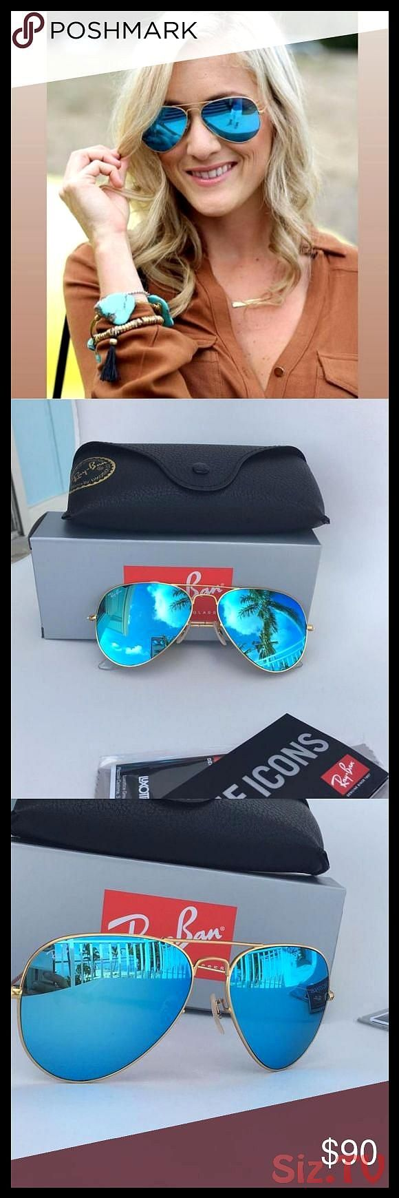 NWT Ray Ban Flash Aviator Turquoise color NWT Ray Ban Flash Aviator Turquoise color Size 58mm Hand made in Italy with Box Case and Cleaning Cloth StNWT Ray Ban Flash Avia...