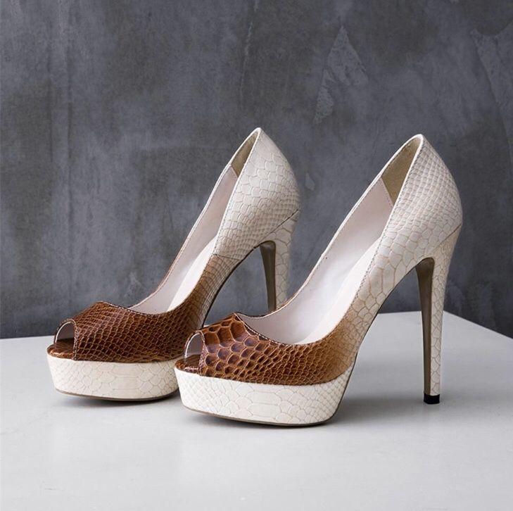 49e18a3c2ae Cute snake skin heels | Shannel's closet in 2019 | Peep toe pumps ...