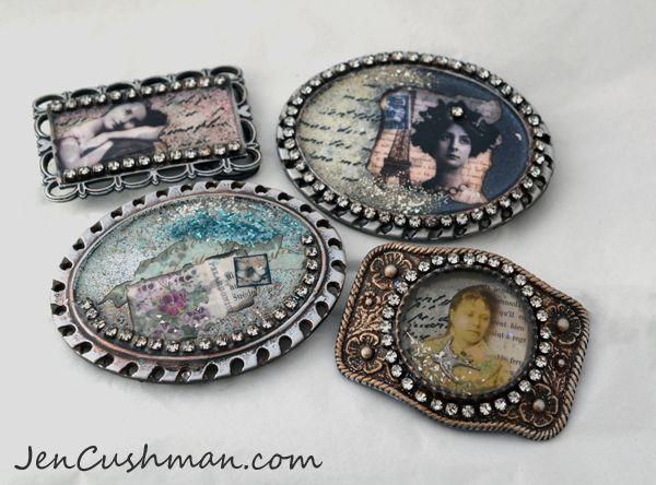 Jen Cushman Resin Belt Buckles   Jewelry ideas   Resin