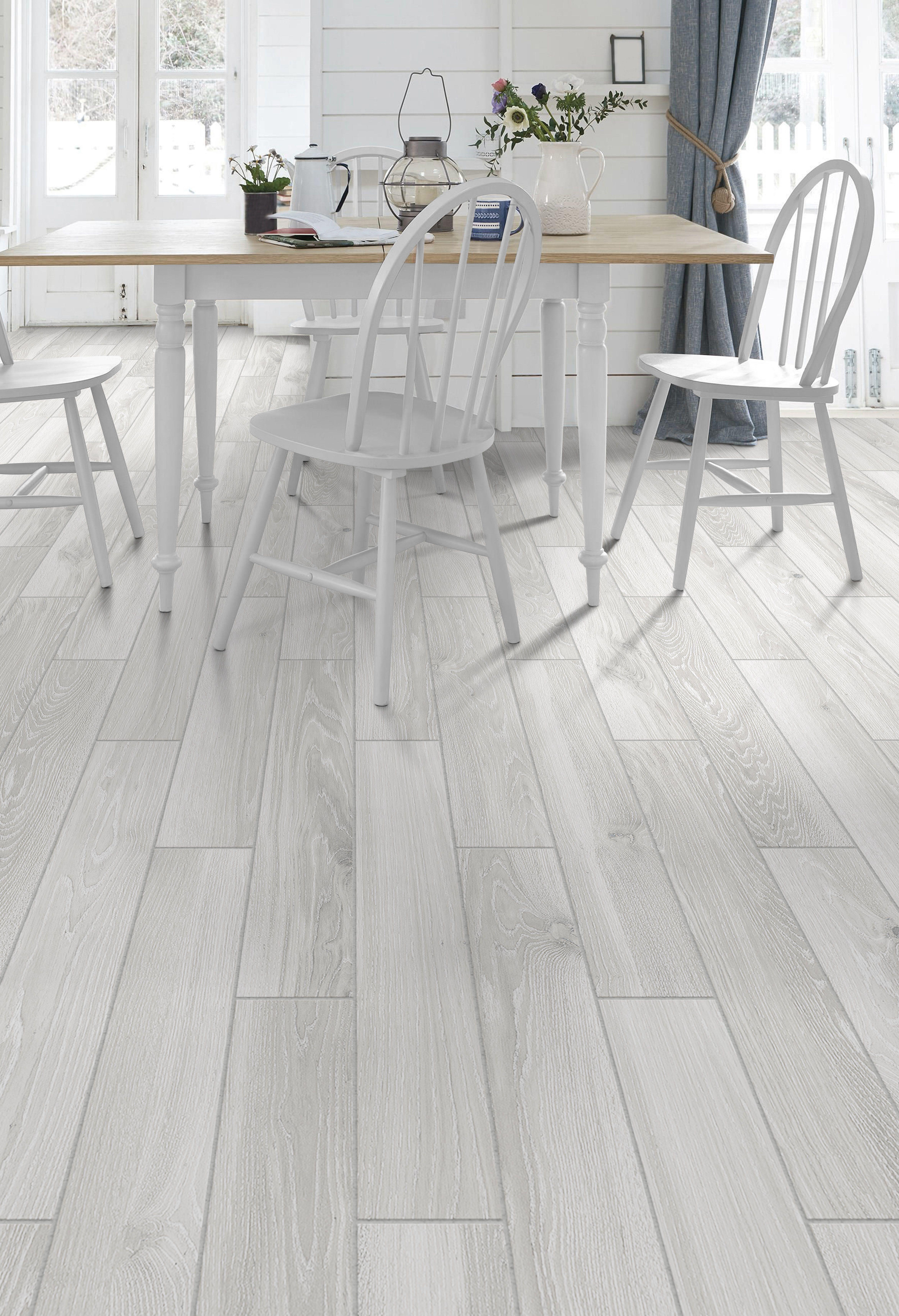 Wood Look Tile Gray Flooring