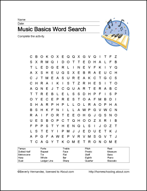 Learn Basic Musical Terms With These 10 Printouts Learning Rscs