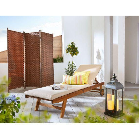 Gartenliege Purida, mit Auflage, Holz #gartenparty #gartenmöbel - gartenmobel kunststoff design