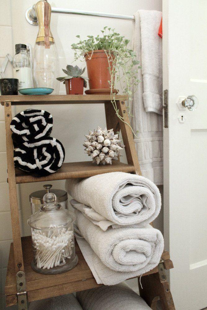 stylish stepped up bathroom storage apartment pinterest rh pinterest com Bathroom Tree Towel Rack Bathroom Tree Towel Rack