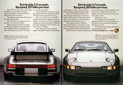 Porsche ad- 930 vs. 928   Porsche 928   Pinterest   911 turbo ...