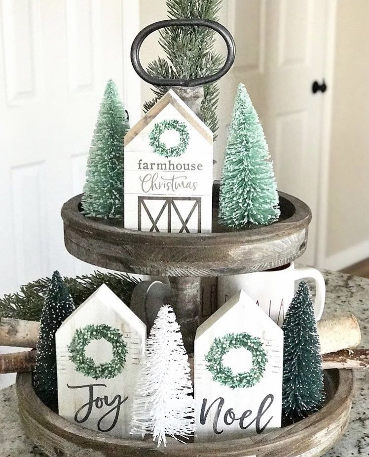 CHRISTMAS FARMHOUSE TIERED TRAYS | LIFE ON SUMMERHILL