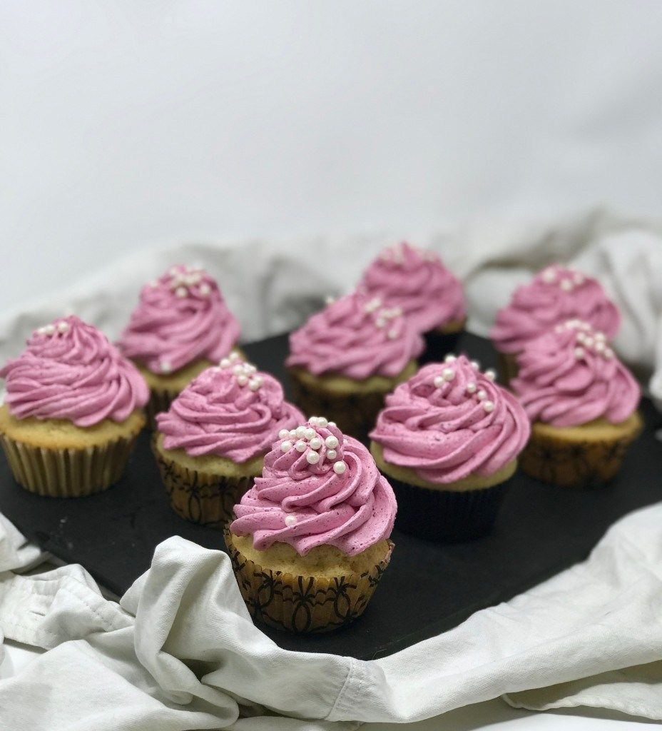 CannaInfused Vanilla Cupcakes with Dragonfruit
