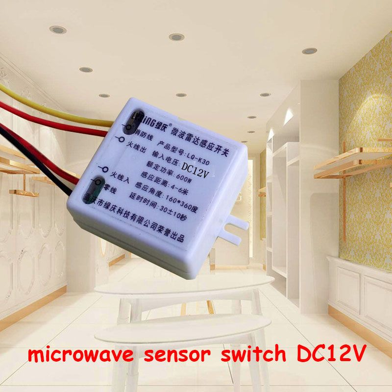 Mini dc12v microwave radar smart motion sensor light microwave cheap sensor switch buy quality wall light sensor switch directly from china microwave motion sensor switch suppliers mini microwave radar smart motion aloadofball Choice Image