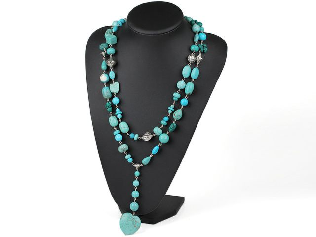 Long style turquose Y shape  neckace-- Aypearl.com