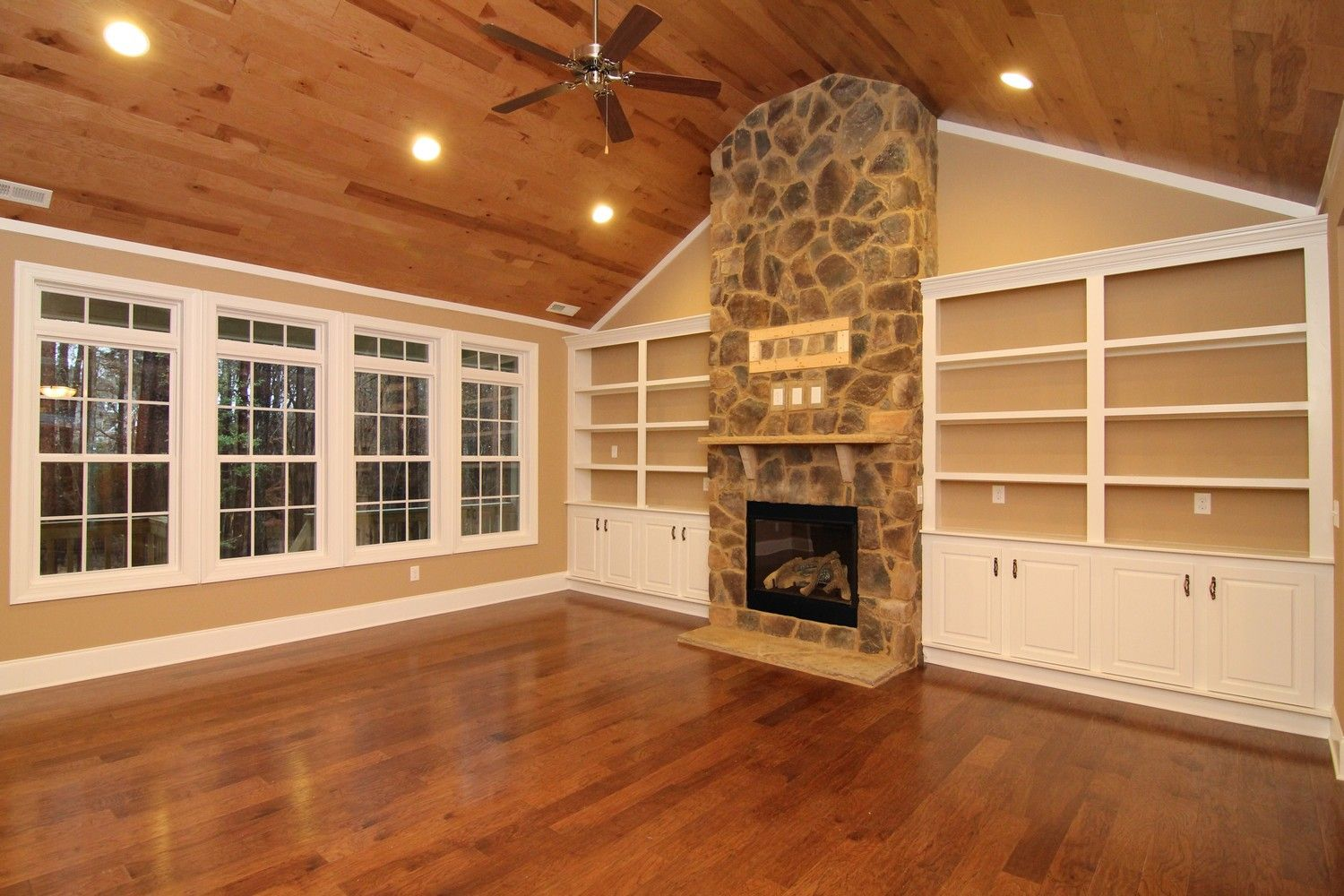great room windows Lake House Builders Raleigh Mountain Home