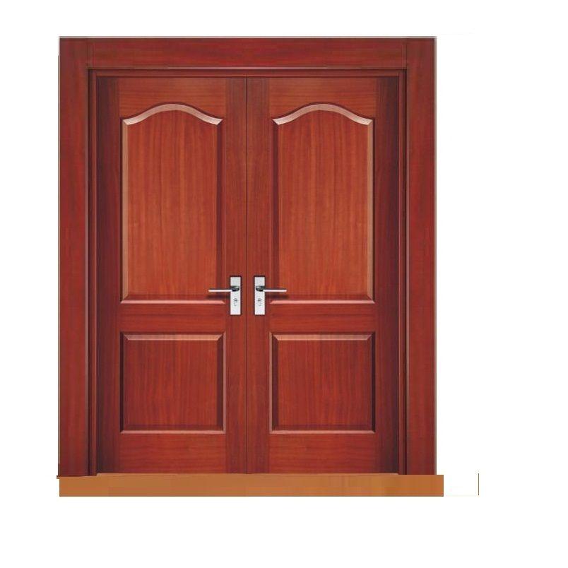Puerta principal estilo magdalena de 2 hojas con sus for Puertas en madera entrada principal