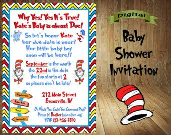 Dr Seuss BABY SHOWER Dr Seuss Baby Shower by APartyWithPaper Baby