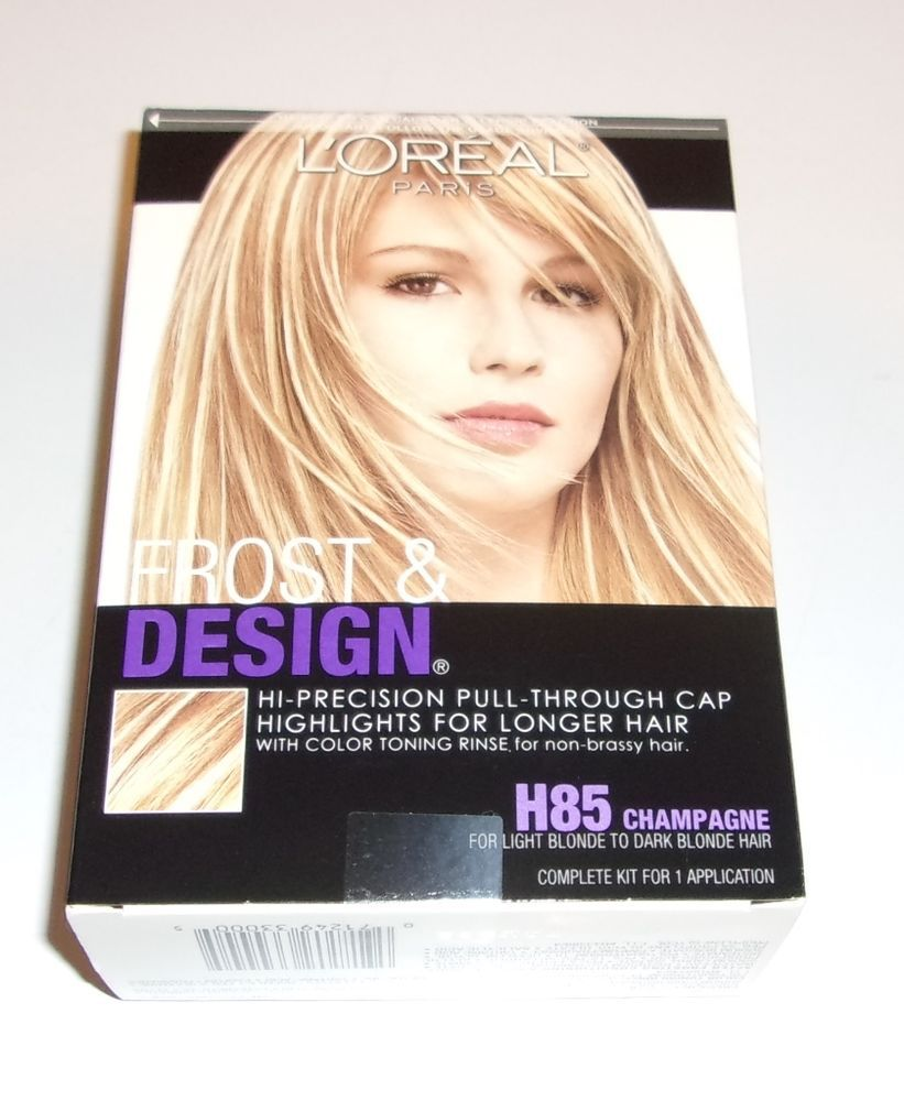 Loreal hair color quiz - Loreal Frost Design Highlights H85 Champagne Hair Color Kit Includes Cap